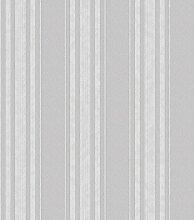 Holden Decor 35609Opus Grazia Stripe Tapete, grau/silber