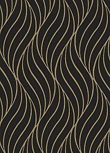 Holden Decor 65263 Maddox Tapete, Schwarz Gold