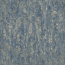 Holden Decor Distressed Metallic Navy 91212 Tapete