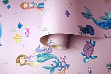 Holden Decor Narwhals and Mermaids Pink 91010