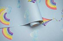 Holden Decor Rainbows and Flying Kites Blue 91022