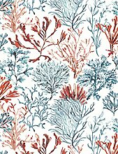 Holden Decor Tapete Notebook Coral, rot/blau