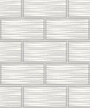 Holden Decor Tapete Wave Tile Weiß