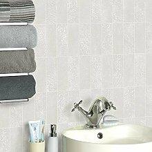 Holden Igneous Kachel Muster Tapete Faux-effekt Stein Küche Badezimmer Geprägt - Weiß 89281