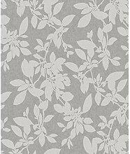 Holden Linden 75852 Tapete mit Blättermotiv, Grau