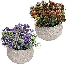 Holibanna 2Pcs Künstliche Topfpflanzen Faux