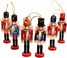 Holibanna 6pcs Weihnachten Nussknacker Ornamente