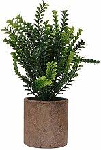 Holibanna Künstliche Pflanze Topf mit Zement