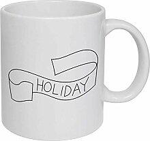 Holiday' Ceramic Mug/Travel Coffee Mug