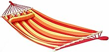 Holifine Hängematte Querholz Hängematte mit Kisse Liegefläche ca. 200X100cm Stabhängematte Rot OHNE Gestell