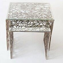 Holländer Tischset LUCIDO, Aluminium poliert -
