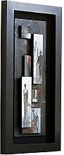 Holländer Wandbild QUARTIERE, Holz schwarz
