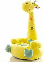 Hollwald Kindersessel Baby Sofa Minicouch Beistellcouch Babysessel Kindermöbel Kindersofa Baby-Stuhl Geburtstagsgeschenk für Jungen und Mädchen Süßes Cartoon-Design (Gelb)
