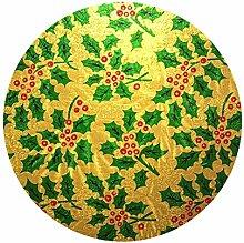 Holly Kuchenplatte rund 25cm (25,4cm) Gold
