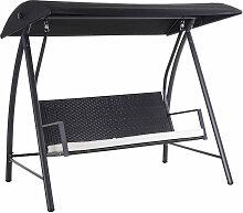 ® Hollywoodschaukel 3-Sitzer mit Dach Polyrattan