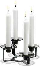 Holmegaard - Lumi Kerzenständer 4-armig, schwarz