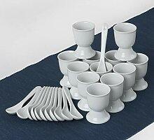Holst Porzellan EB 002 Eierbecher-Set mit Löffel