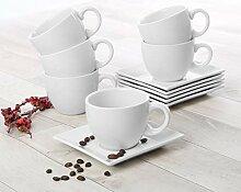 Holst Porzellan PA 151 O FA6 Cappuccino-Set