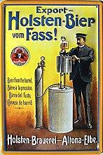 Holsten-Bier vom Fass Blechschild, 20 x 30 cm