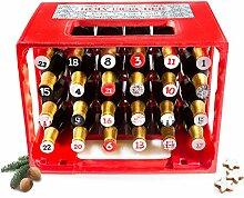 Holy Bierchen Adventskalender 24 Sticker - Adventskalender - Mann - Männer - für ihn - Bier - Weihnachten - Geschenk