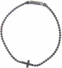Holyart Silberner Amen-Armband mit Kreuz und