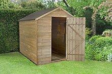 Holz 6x 8Apex Gartenhaus Druck behandelt Garden Shed ohne Fenster