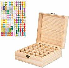 Holz-Aufbewahrungsbox für ätherische Öle, 25