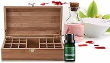 Holz-Aufbewahrungsbox für ätherische Öle, mit