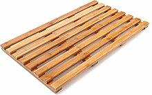 Holz Badematte Bambus Holz Badematte,Matte,Bambusmatte,Badematte & Saunamatte aus Bambus ,Duschteppich ( größe : 66*40cm )