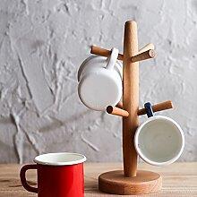Holz Becher Baum,Buche Cup Holder Creative Drain