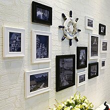 Holz Bilderrahmen an der Wand im Wohnzimmer an der Wand Dekoration Ideen Schlafzimmer Wand Combo Foto weißen Wänden.