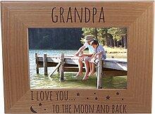 "Holz-Bilderrahmen mit Aufschrift ""Grandpa I Love"