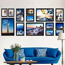 Holz-Bilderrahmen-Set zur Wandmontage für das