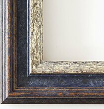 Holz - Bilderrahmen Trento Blau Silber 5,4 - 60x90