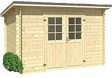Holz-Blech Gartenhaus Jever 2, mit Blechdach anthrazi