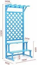 Holz Blume-Rack ---- Anti-Korrosions-Aufhängung Woody Blumen-Racks Balkon Wohnzimmer-Fußboden-Art Multifunktions-Blumen-Regal --- Bitte beachten Sie die Beschreibung ( größe : A-172*75cm )