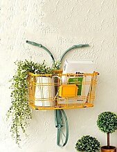 Holz Blume-Rack ---- Creative Iron Flower Racks Fahrrad Dekorationen Balkon Wandmontierte Blumentopf Regal --- Bitte beachten Sie die Beschreibung ( Farbe : 1 )