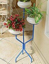 Holz Blume-Rack ---- Ländlichen Eisen Balkon Blumentopf Rahmen Boden Typ Chlorophytum Blumenregal Regal Bonsai Rahmen Blumenregal --- Bitte beachten Sie die Beschreibung ( Farbe : 4 )