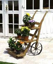 Holz Blumenkarre 1Stck./SET  ,Breite:68cm
