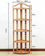 Holz Blumenregal ---- Bambus Mehrere Schichten Eckrahmen Wohnzimmer Regal Landung Ecke Blumenregale Badezimmer Eckregal --- Bitte beachten Sie die Beschreibung ( größe : 138cm )