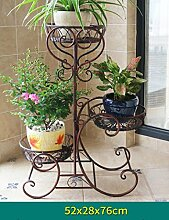 Holz Blumenregal ---- Eisen europäischer Stil Blumenregale Mehrere Schichten Fußbodenart Blumenregale Balkon Drinnen Wohnzimmer Ländlichen Pflanze Regal Blumentopf-Rack --- Bitte beachten Sie die Beschreibung ( Farbe : 2 )