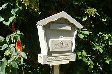 Holz-Briefkasten, Briefkasten HBK-SD-HELLGRAU aus