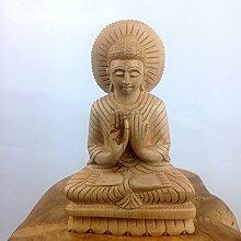 Holz Buddha Skulptur handgeschnitzt Statue, Figur,