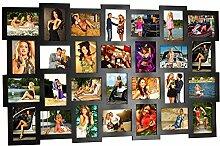 Holz Collage Bilderrahmen für 28 Fotos 10x15 in