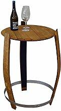 Holz-Design Stehtisch aus echtem Weinfass, Dekofass, Gartentisch aus Holzfass - abgeschliffen und geöl