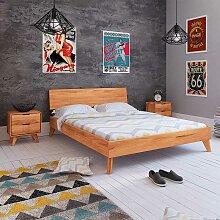 Holz Doppelbett aus Kernbuche Massivholz
