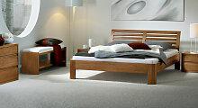 Holz-Doppelbett Barcelona, 140x200 cm, Eiche