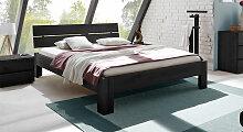 Holz-Doppelbett Bayamo, 140x200 cm, Eiche graphit,