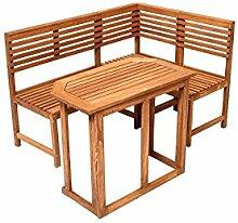 Holz Eckbank Saigon mit Tisch Gartenbank Holzbank
