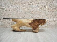 Holz-Esstisch mit Kristall